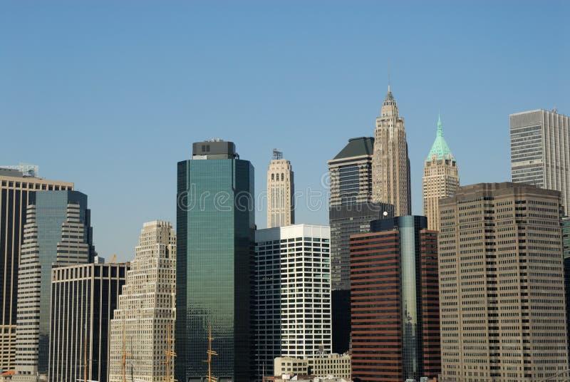 Constructions du centre à Manhattan photos libres de droits