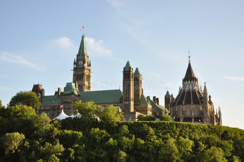 Constructions du Parlement et bibliothèque, Ottawa images stock