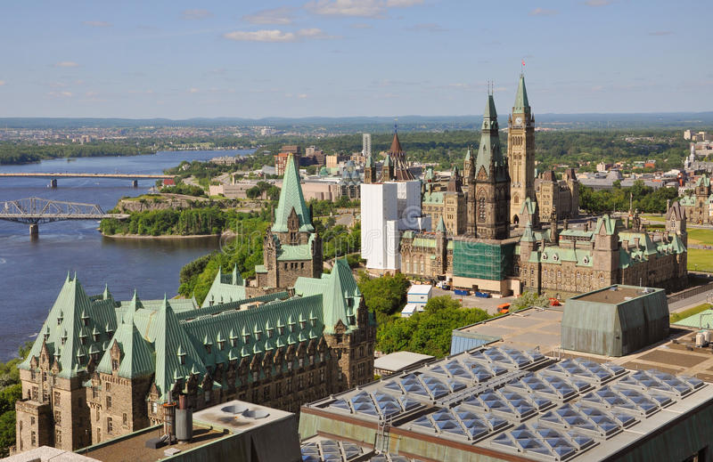 Constructions du Parlement, Ottawa, Canada photographie stock