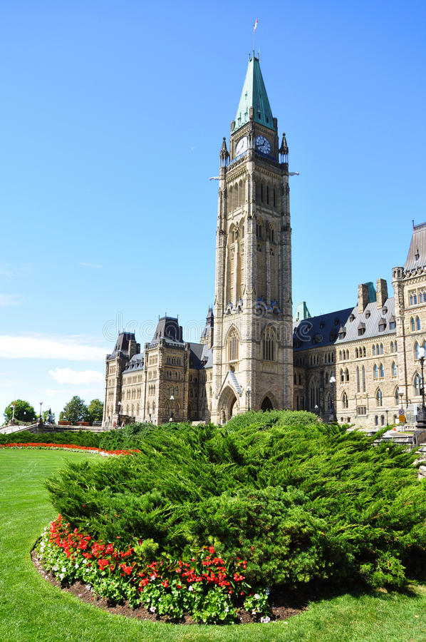 Constructions du Parlement, Ottawa, Canada image stock