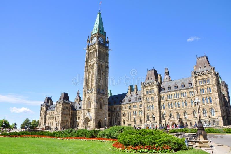 Constructions du Parlement, Ottawa, Canada photo stock