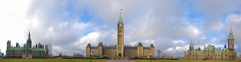 Constructions du Parlement, Ottawa, Canada images libres de droits