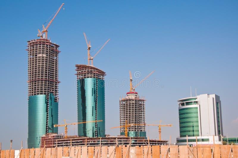Constructions en construction au Bahrain. photographie stock libre de droits