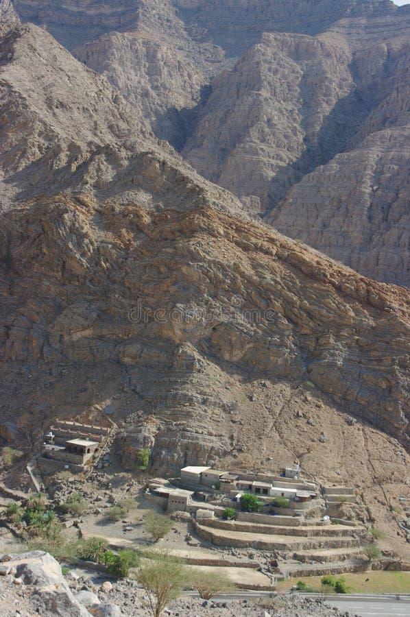 Constructions en montagnes photos stock