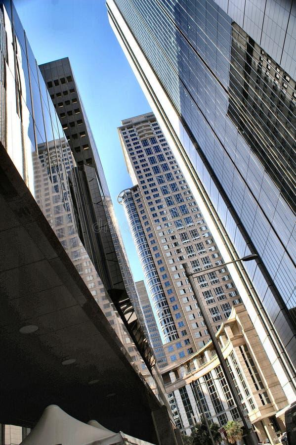 Constructions en verre images stock