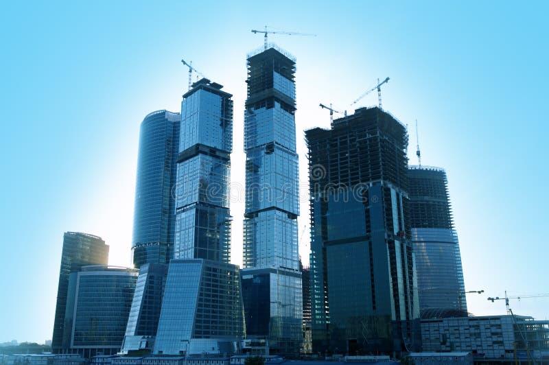 Constructions en verre d'affaires photos stock
