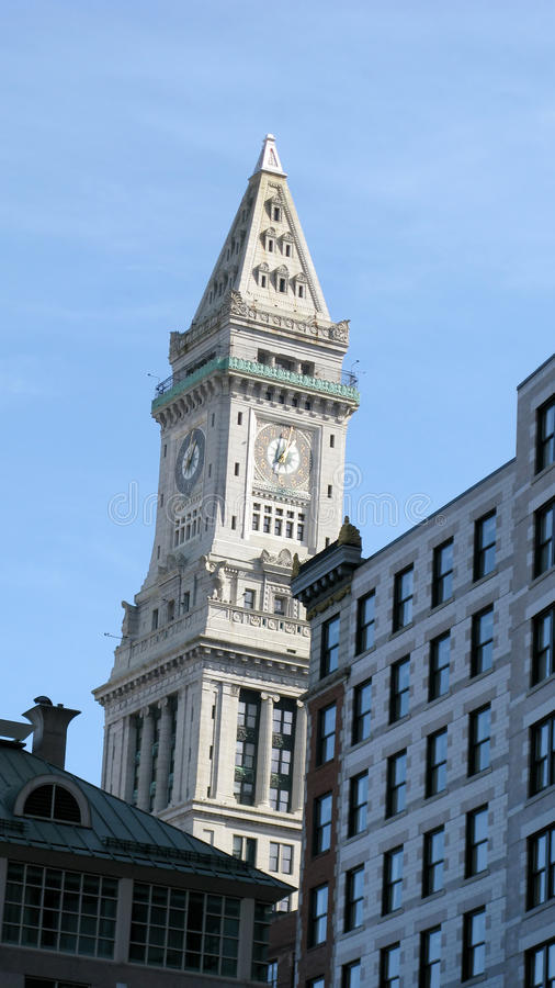 Constructions Et Borne Limite De Boston Photo libre de droits
