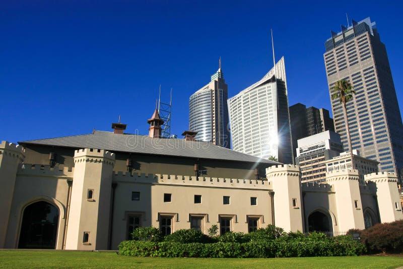 Constructions grandes de gratte-ciel de ville de Sydney. photo stock