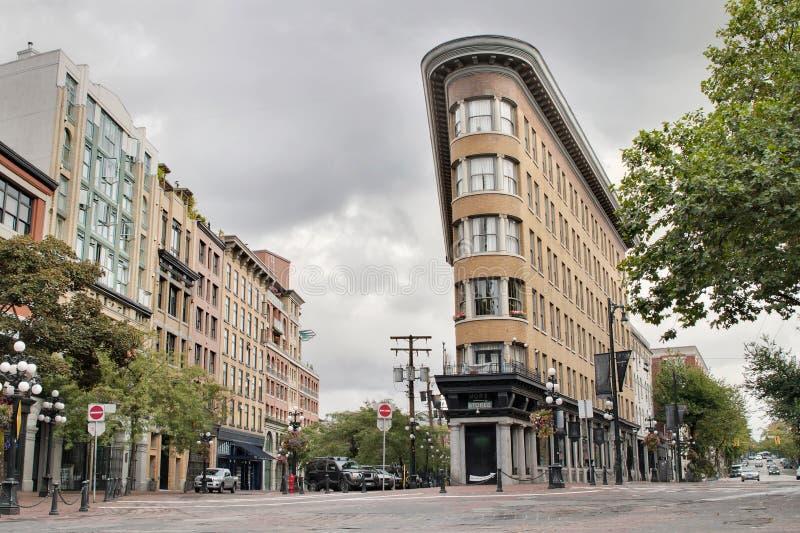 Constructions historiques dans Gastown Vancouver BC image libre de droits