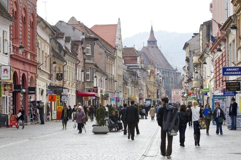 Constructions historiques dans la ville de Brasov photo libre de droits