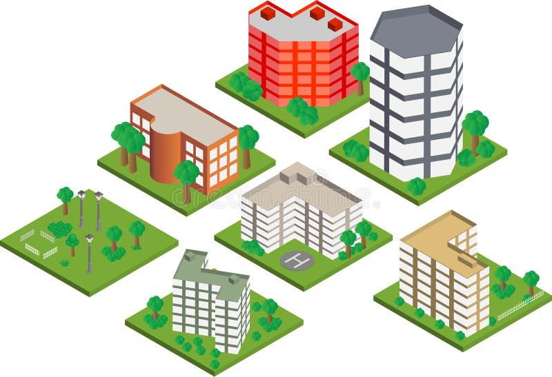 Constructions isom?triques illustration libre de droits