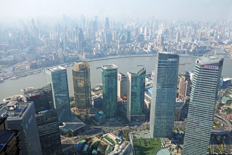 Constructions modernes à Changhaï images libres de droits