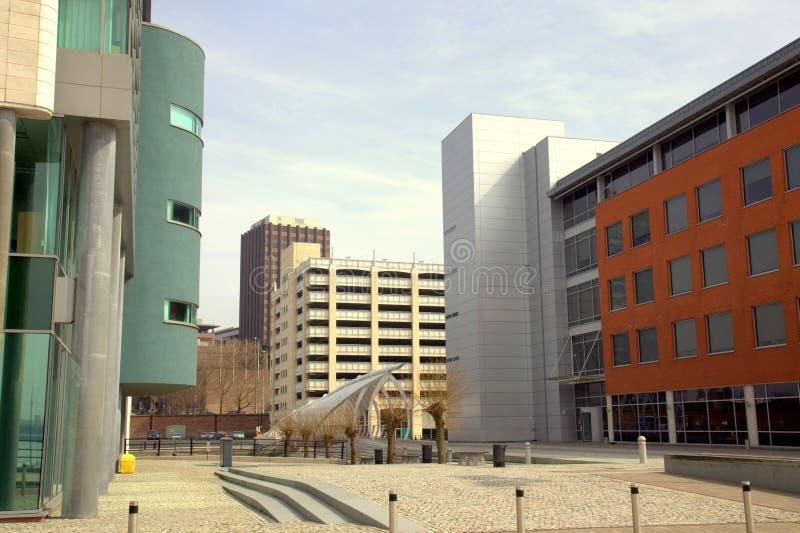 Constructions modernes à Liverpool images stock