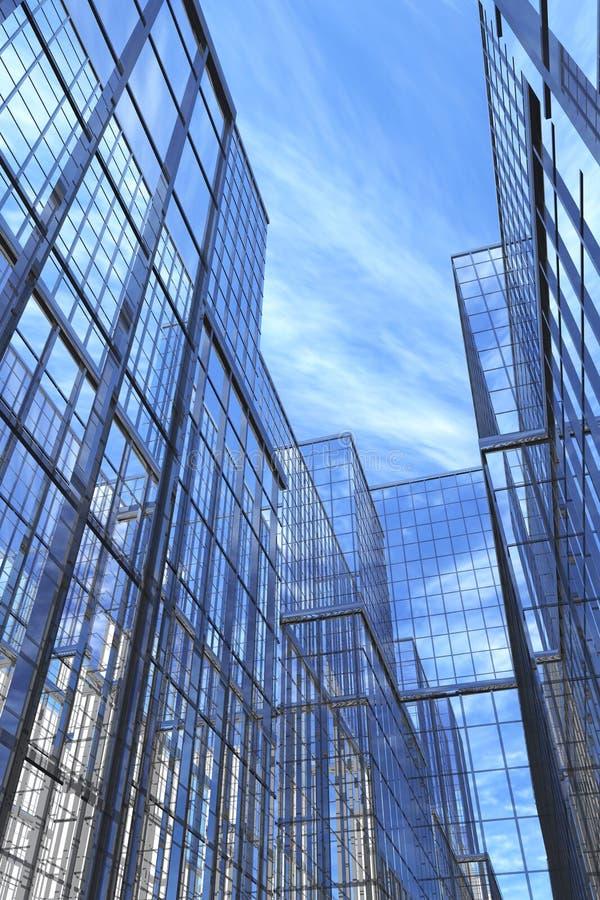 Constructions modernes, cour illustration libre de droits