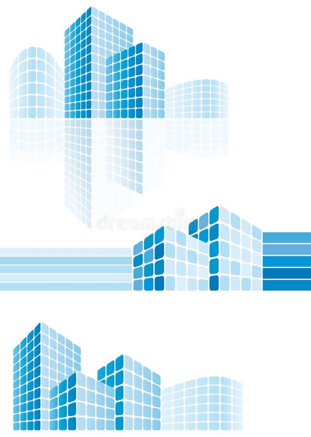 Constructions modernes de ville illustration libre de droits