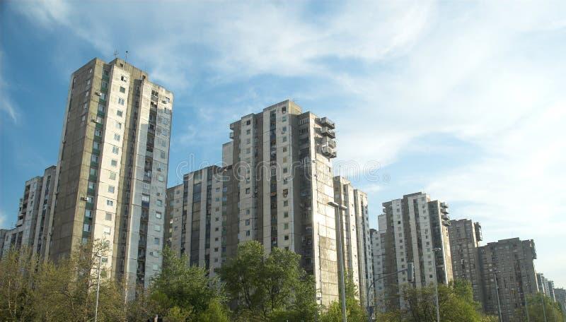 Constructions neuves de Belgrade photographie stock libre de droits