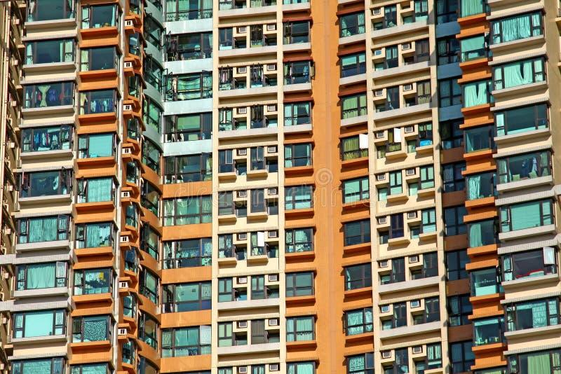 Constructions résidentielles à Hong Kong images libres de droits