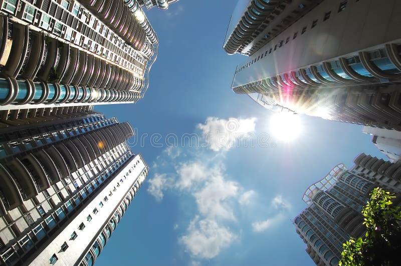 Constructions résidentielles élevées image libre de droits