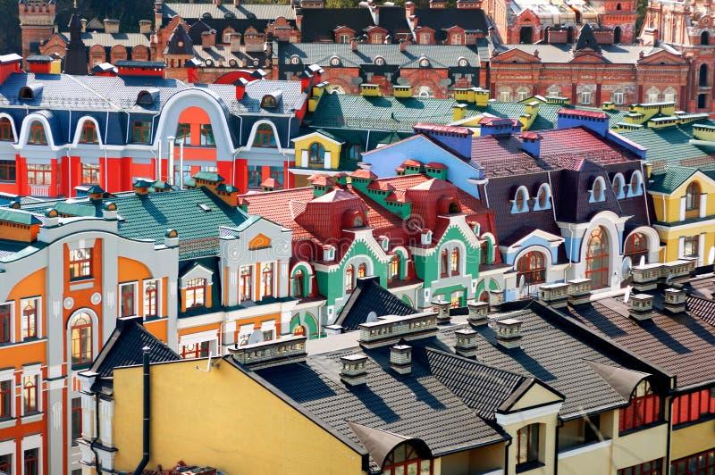 Constructions résidentielles colorées photo libre de droits