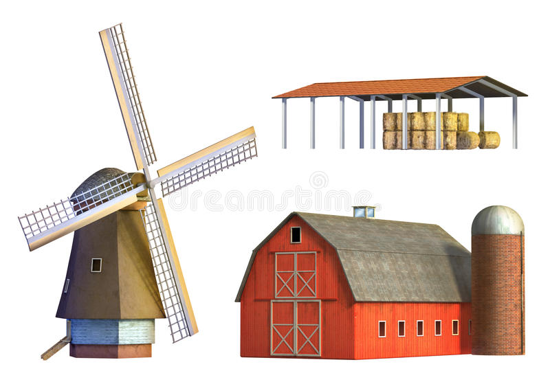 Constructions rurales illustration de vecteur