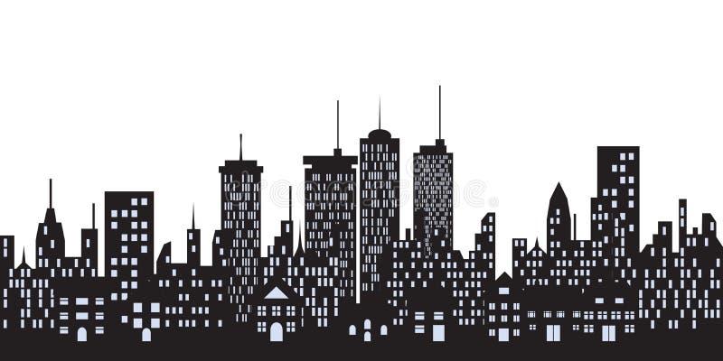 Constructions urbaines dans la ville illustration de vecteur