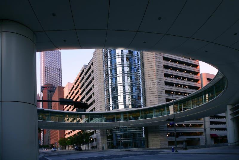 Constructions urbaines de ville du centre de Houston images libres de droits