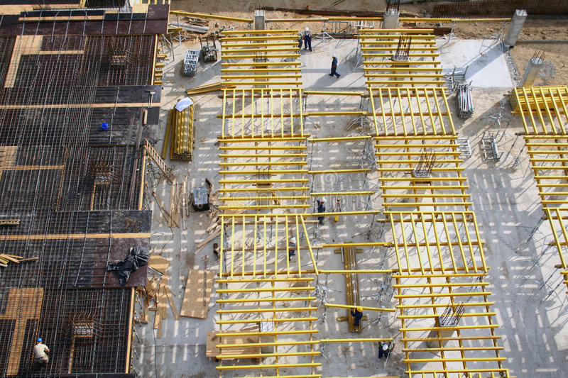 Constructions and workers royalty free stock image