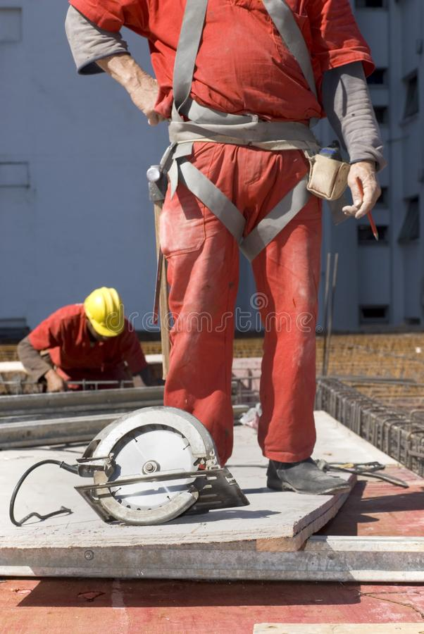 Constructions Workers at Site stock image
