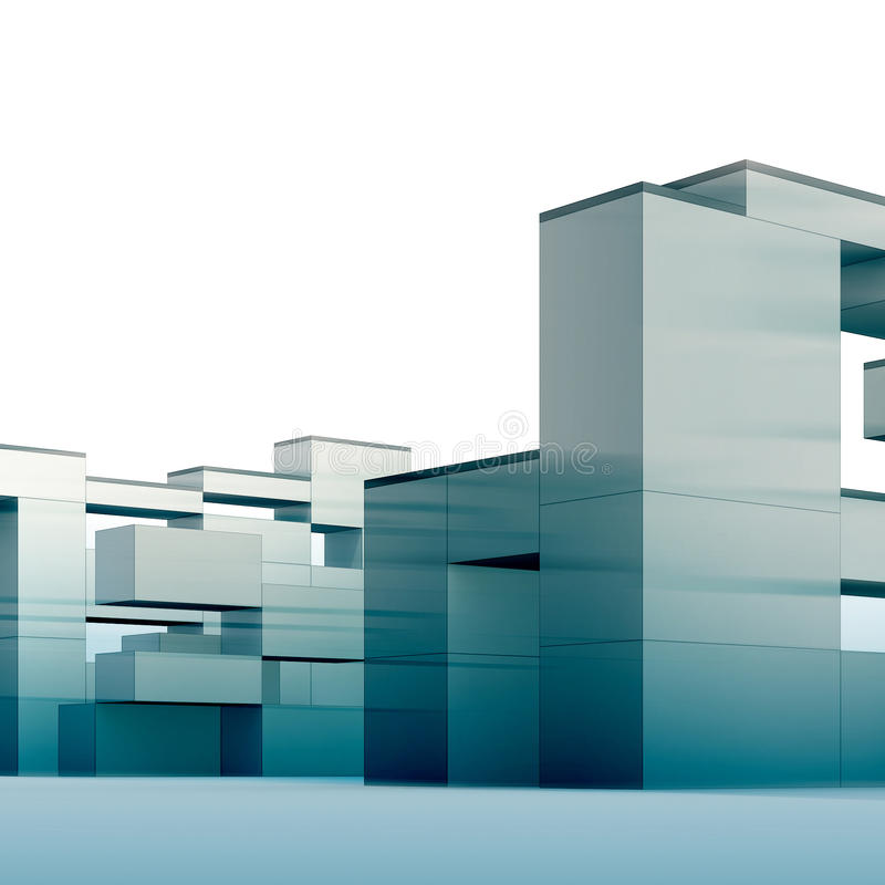 Constructivism In Blue Royalty Free Stock Photography