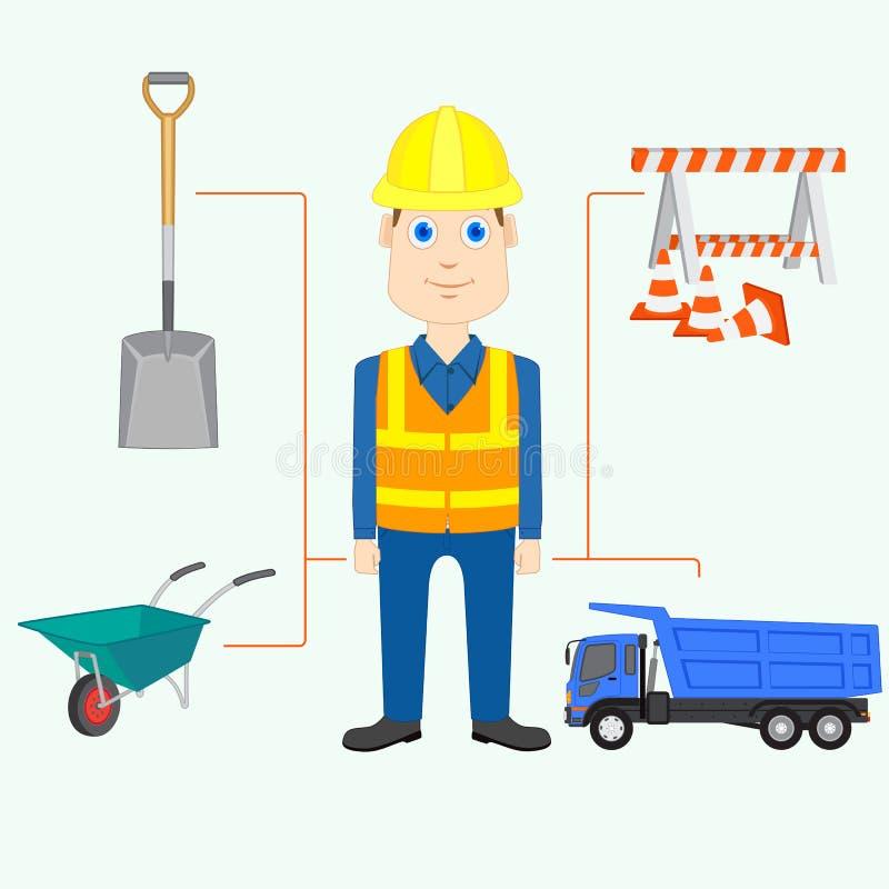 Constructor stock de ilustración