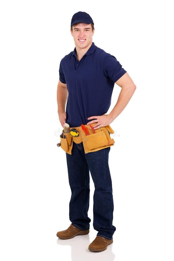 Constructor de sexo masculino joven imagen de archivo