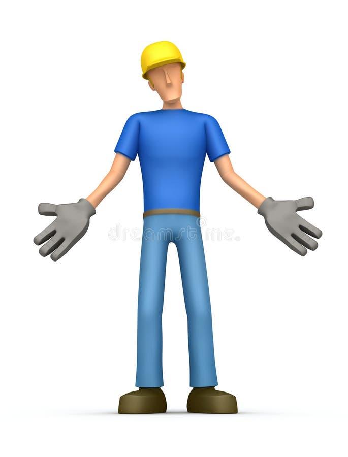 Constructor Embarrassed ilustración del vector