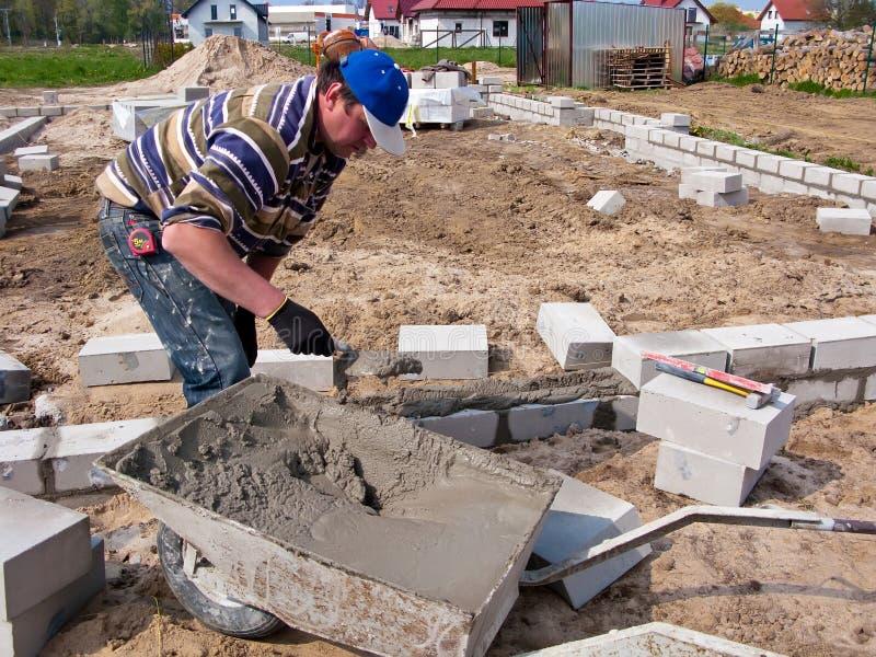 Constructor en sitio foto de archivo