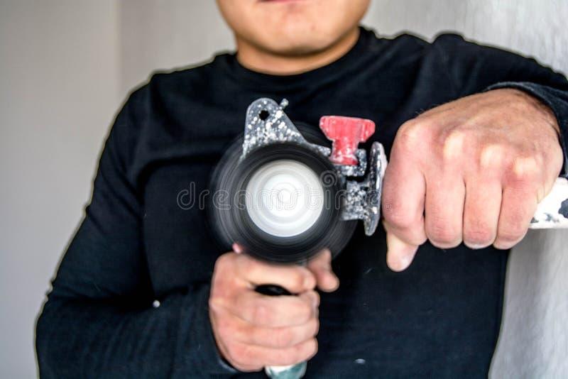 Constructor joven foto de archivo