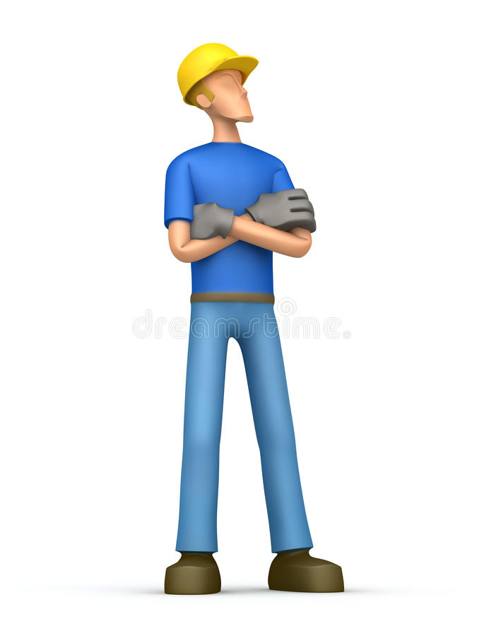 Constructor orgulloso libre illustration