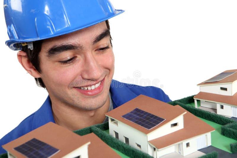 Constructor que mira el modelo foto de archivo