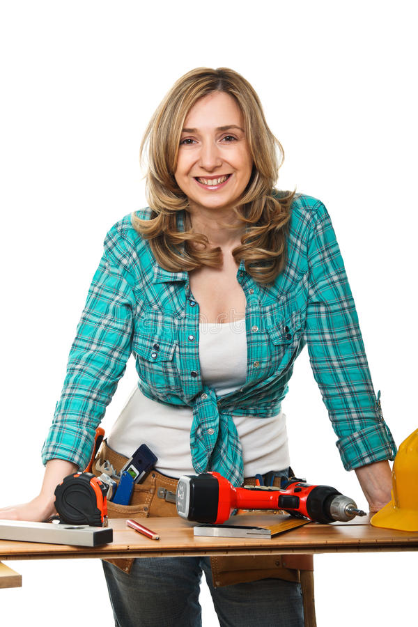 Download Constructor woman stock image. Image of smiling, craft - 19461307