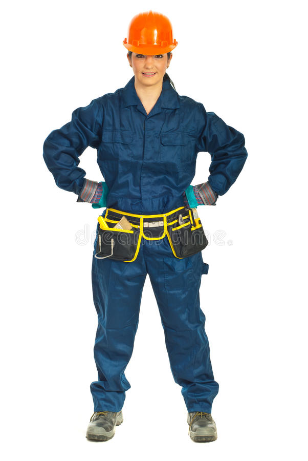 Download Constructor Worker Woman With Attitude Stock Image - Image: 18949107