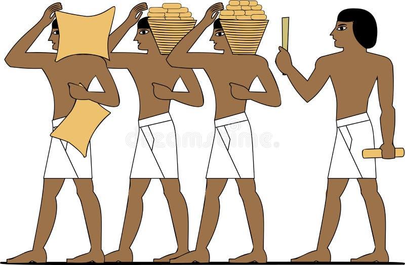 Constructores de Egipto antiguo stock de ilustración
