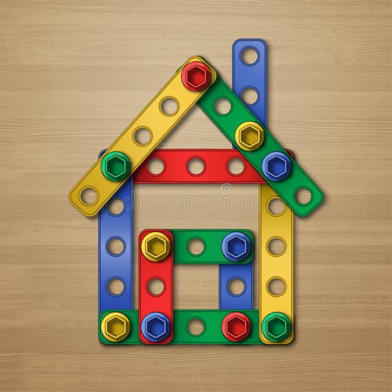 Constructorhouse διανυσματική απεικόνιση