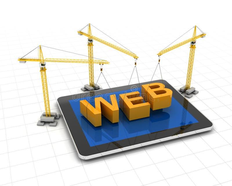 Construir sitio web stock de ilustración
