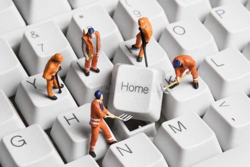 Construir uma HOME baseou o negócio imagens de stock