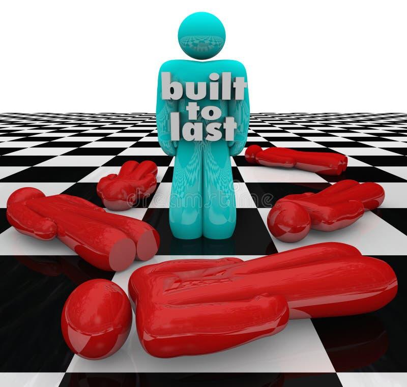 Construit pour durer Person Standing Winner Strong Determination illustration de vecteur
