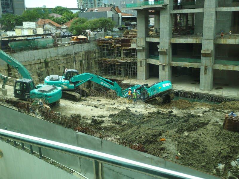 Constrution, Eskafator 库存图片