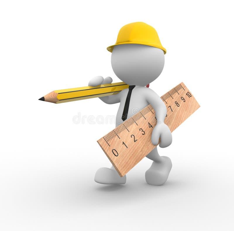 Construtor ilustração do vetor