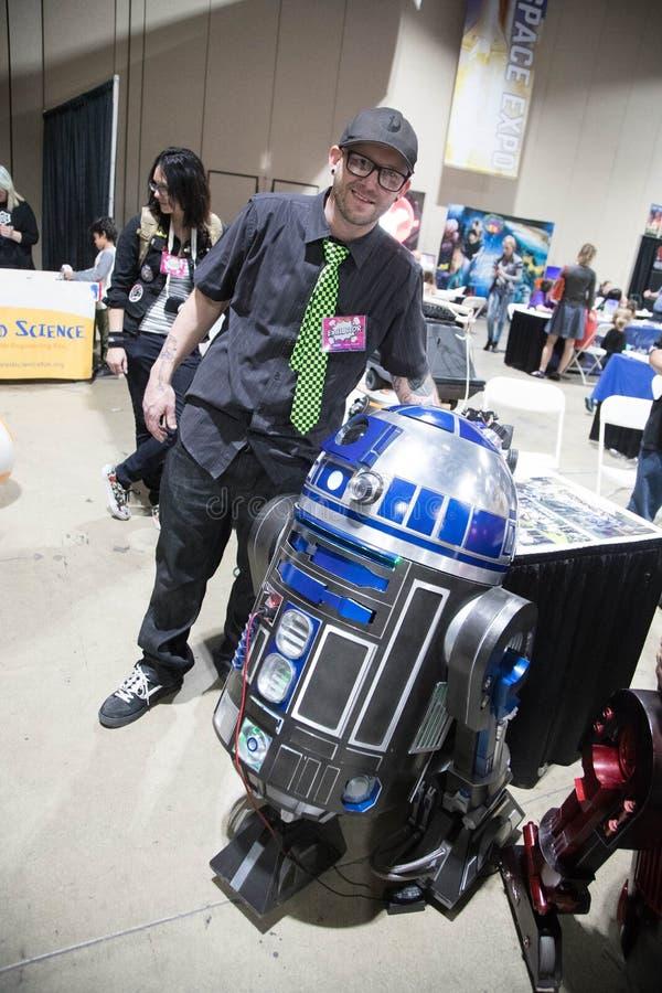 Construtor cômico 3 de Droid da expo de Long Beach imagens de stock royalty free