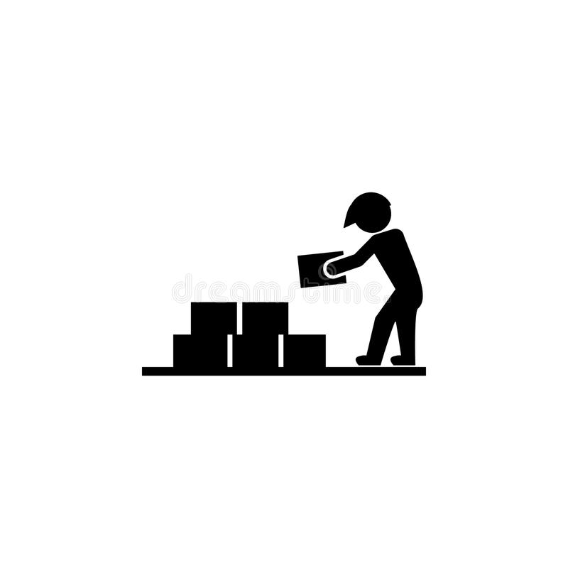 Construtor com ícone dos materiais de construção Elementos do ícone do constraction Projeto gráfico da qualidade superior sinais  ilustração stock