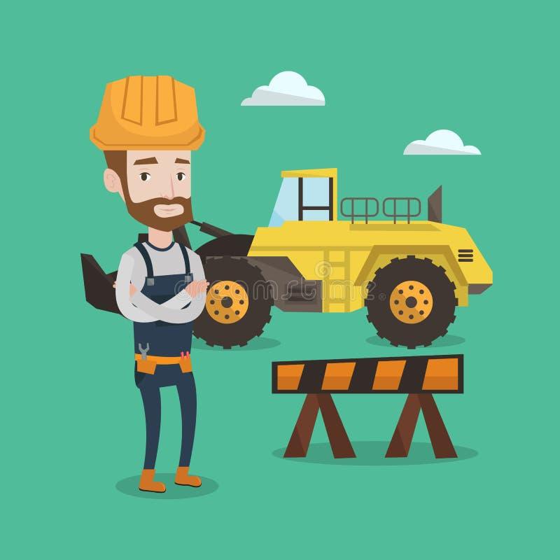 Construtor confiável com os braços cruzados ilustração royalty free