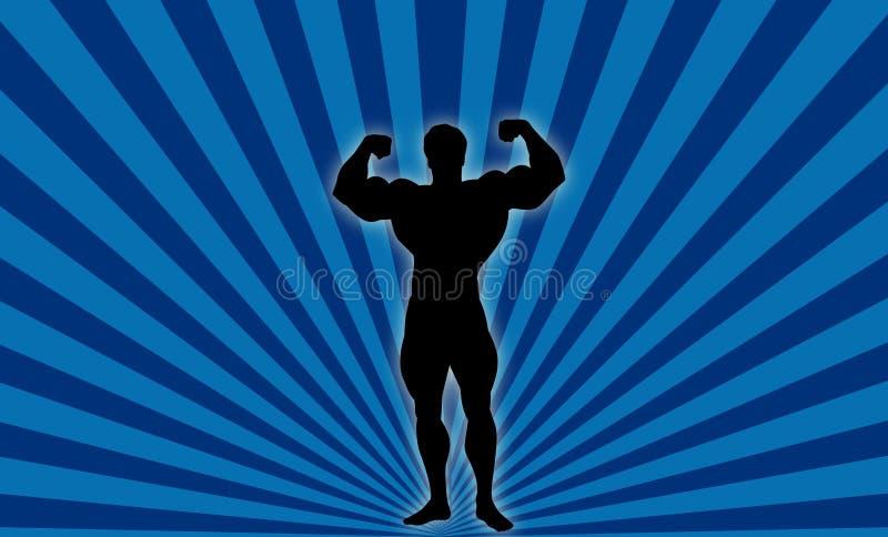 Construtor de corpo! ilustração stock