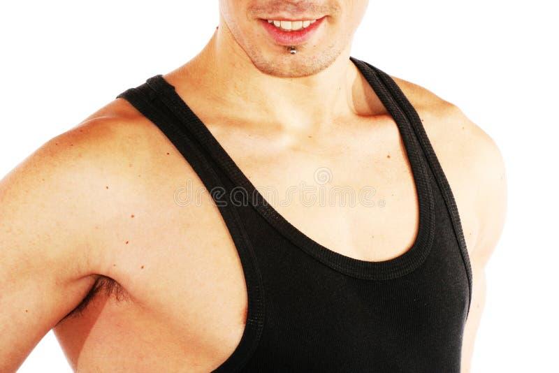 Construtor de corpo masculino muscular imagem de stock royalty free